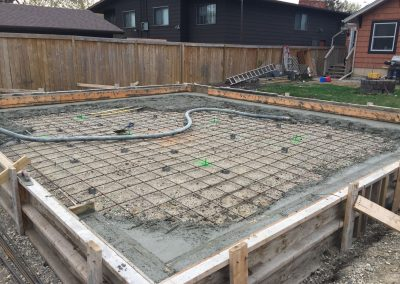 20 Ave Garage Slab on Grade